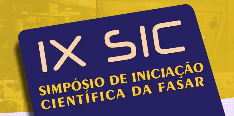 IX SIC - Simpósio de Iniciação Científica da FASAR - 2015