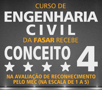 Curso de Engenharia Civil da FASAR recebe conceito 4 na Avaliação de Reconhecimento pelo MEC